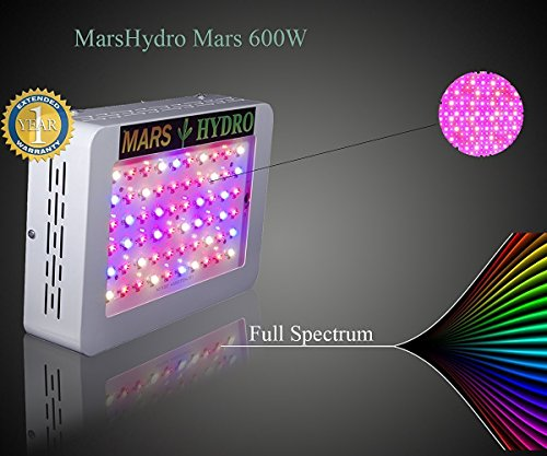 marshydro mars 300 led grow light full spectrum betriebswachsende lamp. Black Bedroom Furniture Sets. Home Design Ideas
