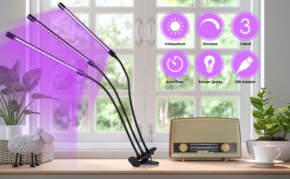 LED Pflanzenlampe 30W